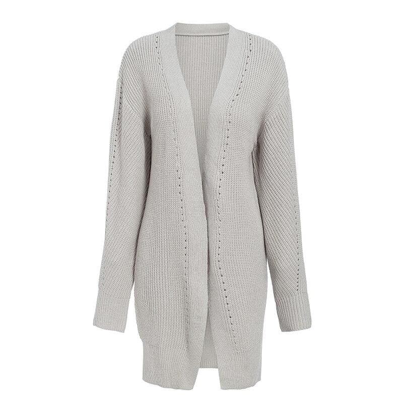 The Best Autumn winter 2019 cardigans sweater ladies knitted  long cardigans Online - Source Silk