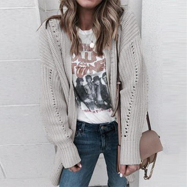 The Best Autumn winter 2019 cardigans sweater ladies knitted  long cardigans Online - Hplify