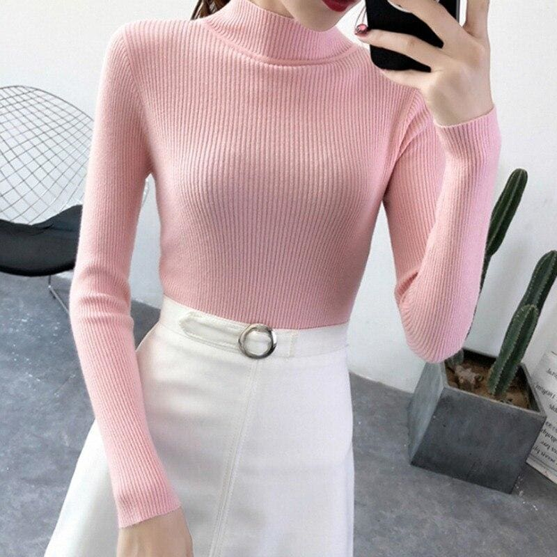 The Best Autumn Winter Sweater Women Long Sleeve Pullover Women Slim Sweaters Online - Hplify