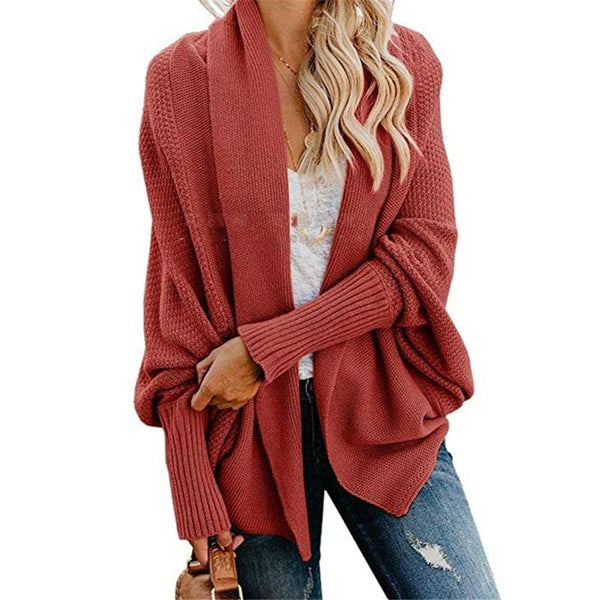 The Best Autumn winter women cardigan batwing sleeve casual coat clothes Online - Hplify