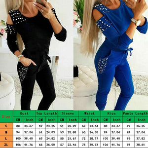 Autumn Women Jogger Casual Running Tracksuit Sweatshirt Tops + Pants 2Pcs Sets Sport Wear Loungewear 2019 New - Womens Clothing
