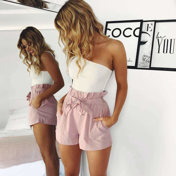 The Best Beach Hot Pants Summer Shorts Beach High Waist Shorts Ladies Shorts Online - Hplify