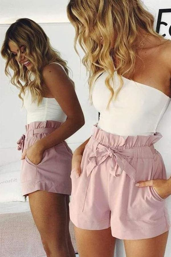 Beach Hot Pants Summer Shorts Beach High Waist Shorts Ladies Shorts - Hplify
