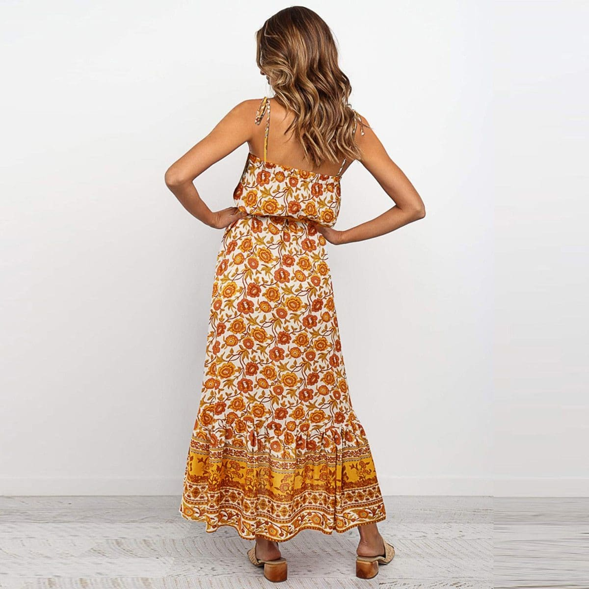 Buy Cheap Boho Floral Casual Long Maxi Dress Evening Party Cocktail Beach Holiday Sundress Online - Hplify