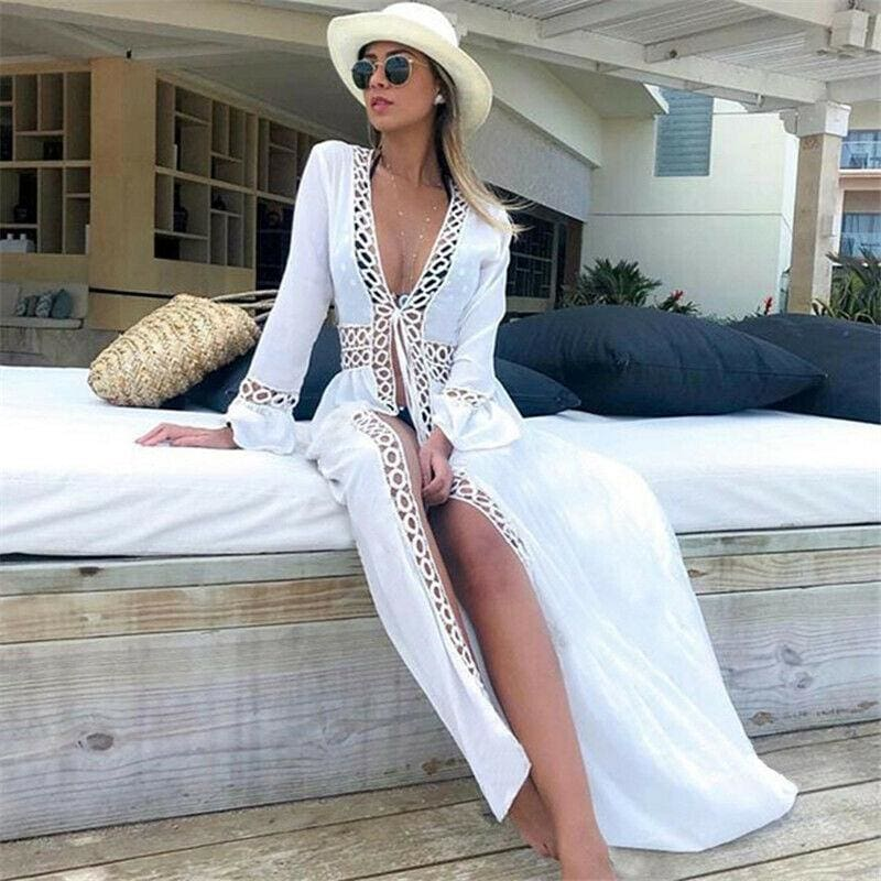 The Best Boho Long Bikini Cover Up Swimwear Beach Bathing Kaftan Maxi Dress Online - Hplify