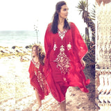 The Best Boho Women Ladies Kaftan Long Dress Women Casual Beach Swimsuit Bikini Cover up Caftan Maxi Gown Sundress Online - Source Silk