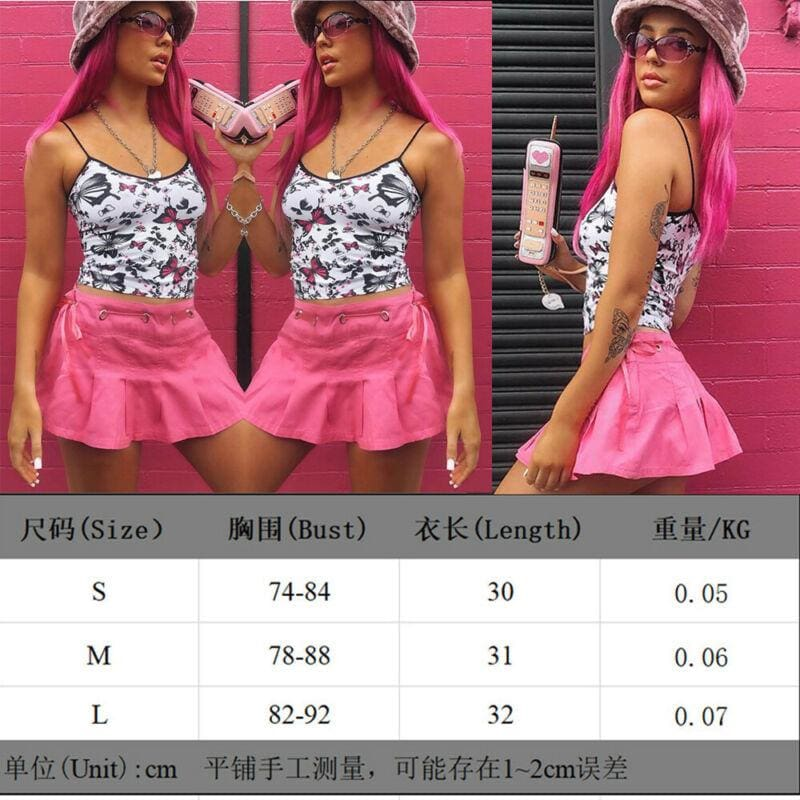 The Best Butterfly Pattern Women Sleeveless Bustier Crop Top Tube Tank Vest Camisole Ladies Summer Fashion Stylish Tops Online - Source Silk