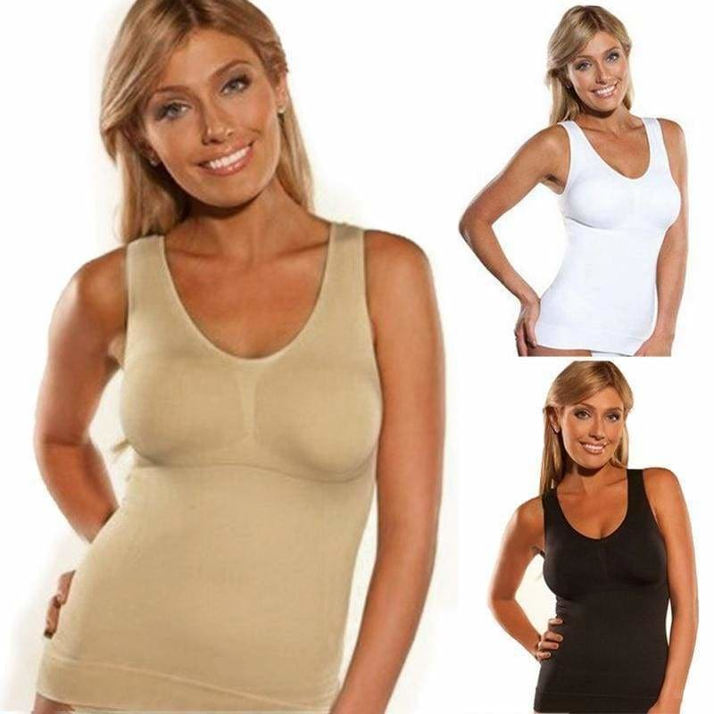 The Best Cami Shaper by Genie Sport long vest Women running Tank Top Underwear Online - Hplify