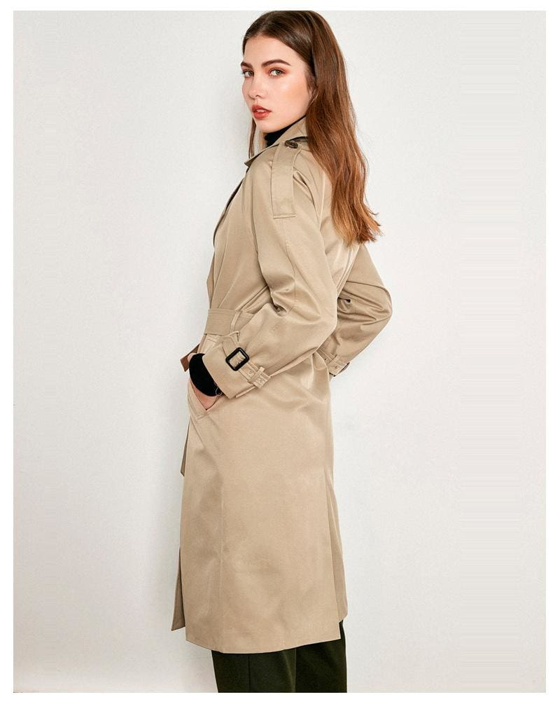 The Best Casual Loose Coat Women's Tie Windbreaker Jacket Online - Hplify