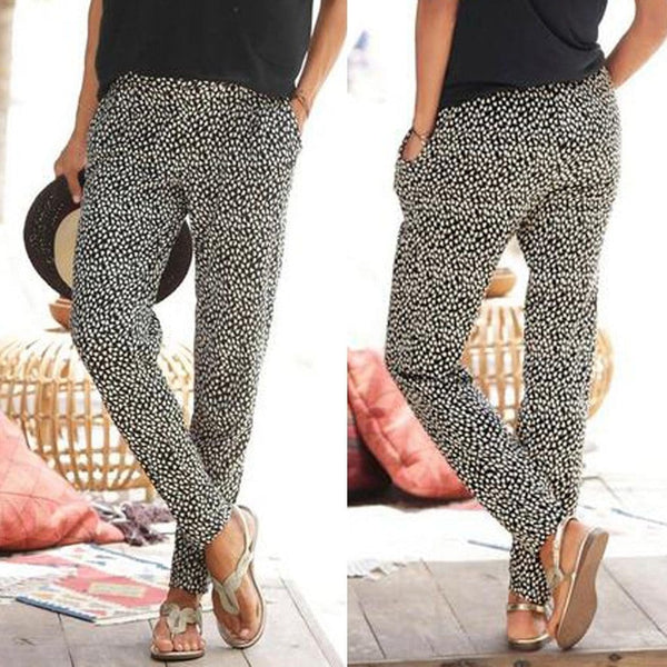 The Best Casual Pants Women High Waist Printing Easy Trousers Sandy Beach Pants Online - Hplify