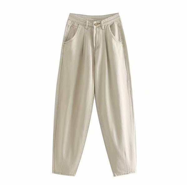 High Waist Cargo Pants Women Casual Mom Jeans