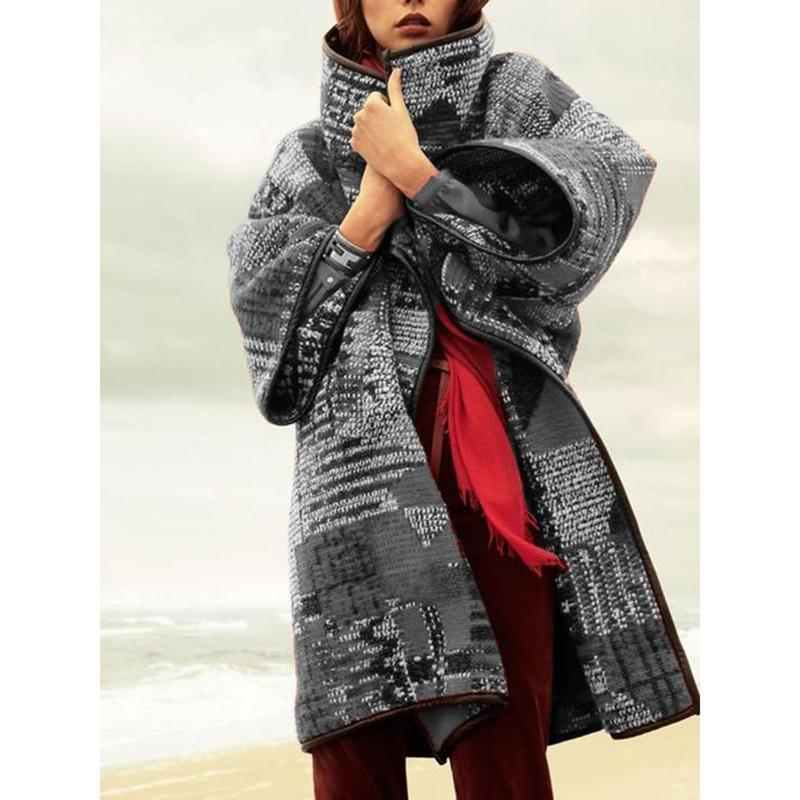 The Best Long Sleeve Vintage Women Coat Online - Hplify