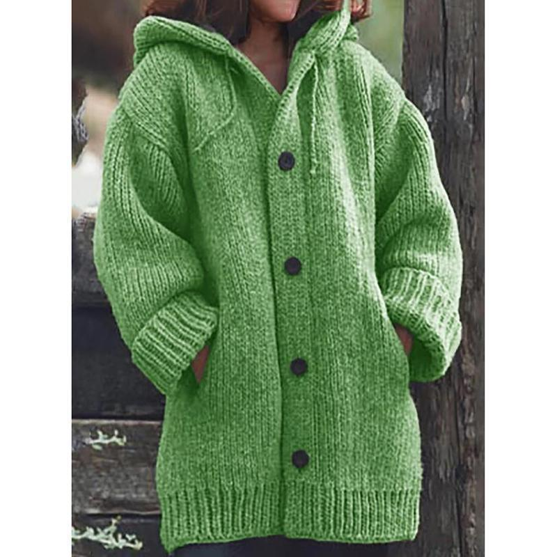 The Best Hooded Plus Size Cardigan Sweater Coats Online - Hplify