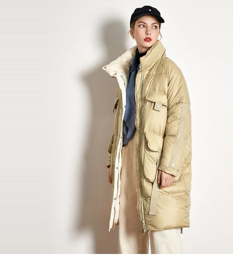 Buy Cheap Down Jacket Thick Long White Duck Down Jacket Online - Hplify
