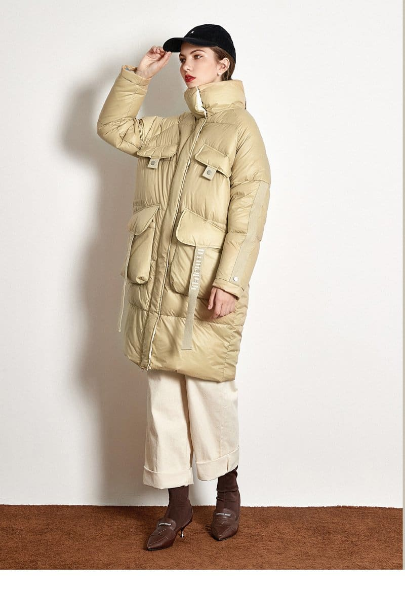 The Best Down Jacket Thick Long White Duck Down Jacket Online - Hplify