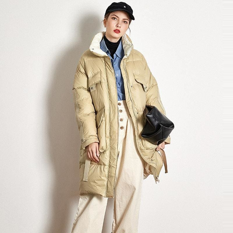 Down Jacket Thick Long White Duck Down Jacket - Down Jacket