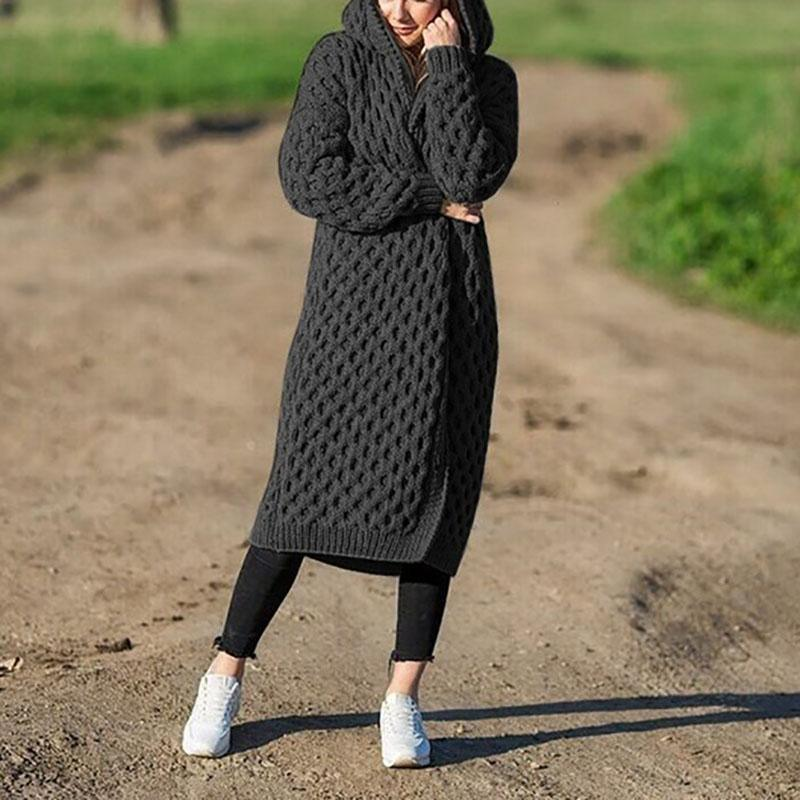 The Best Plus Size Hooded Cardigan Coat Online - Hplify