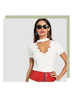 The Best Elegant V Collar Short Sleeve Solid Tee Summer Women Casual Top Online - Hplify