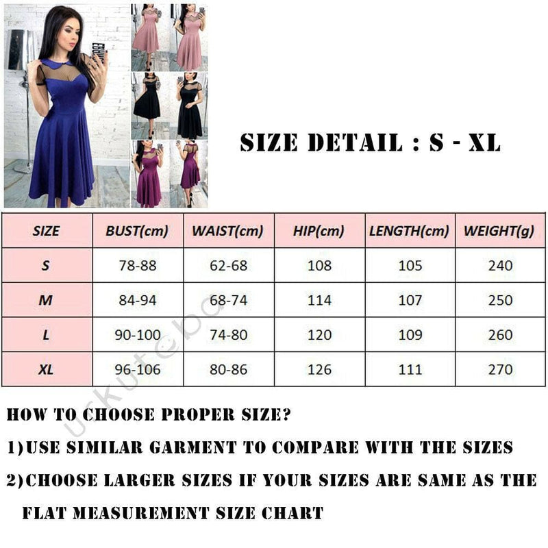 The Best Elegant Women Formal Prom Evening Party Dress Fashion Ladies Peter Pan Neck Mesh Wedding Ball Gown Midi Dress Online - Hplify
