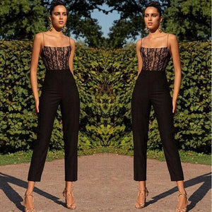 Buy Cheap Elegant Women Ladies High Waist Sleeveless Summer Off Shoulder Slim Jumpsuit Long Pant Straight Leg Romper Online - Hplify