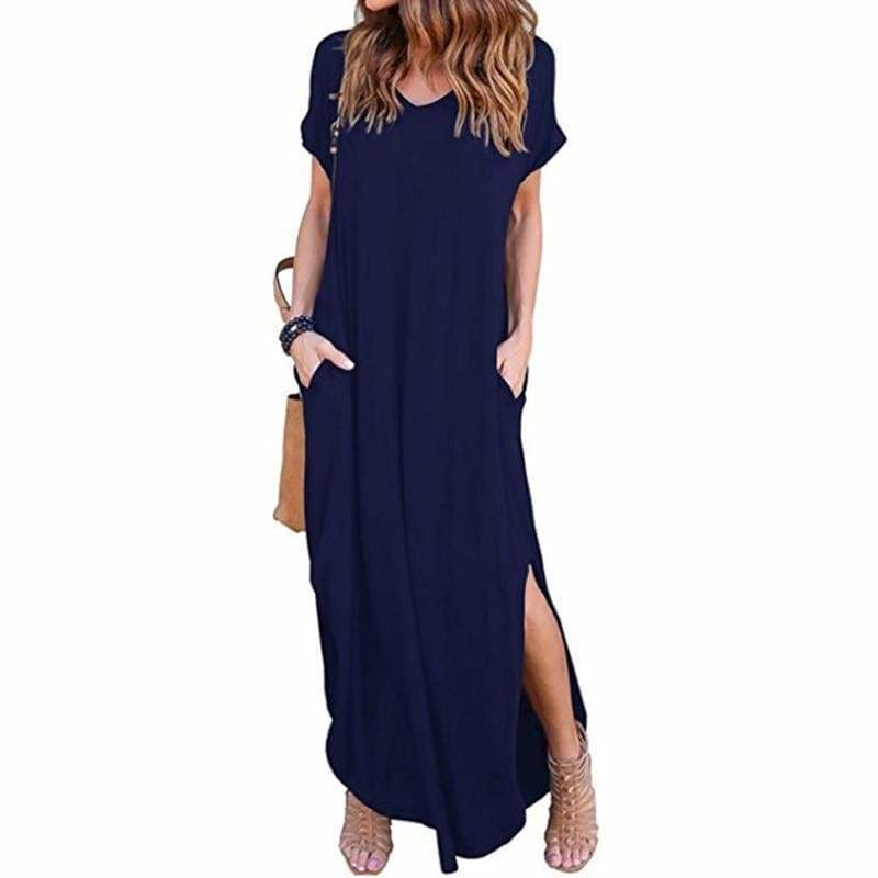 The Best Fashion Casual Cotton Dress Women Robe Jurken V-Neck Streetwear Loose Online - Source Silk