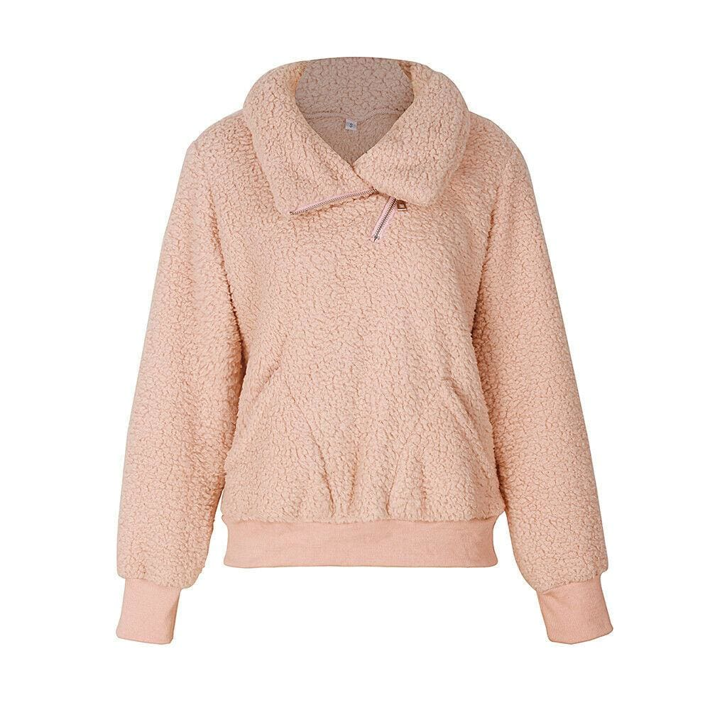 The Best Fashion Hoodies and Sweatshirts Women Autumn Winter Warm Ladies Top Long Sleeve Plain Solid Casual Sweatshirt Streetwear Online - Source Silk