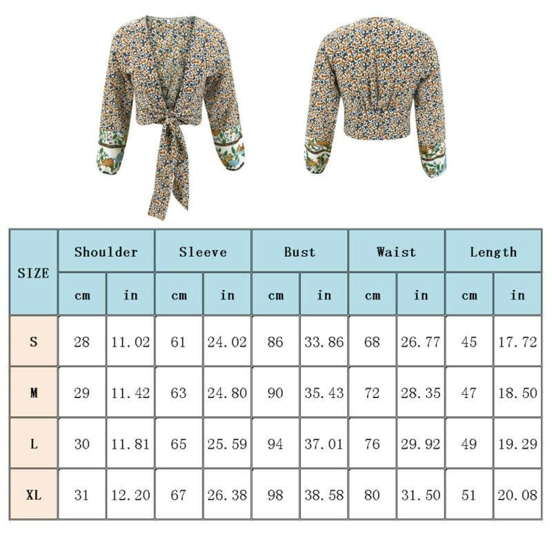 The Best Fashion Spring Women Long Sleeve Floral Cropped Cardigan Blouse Bolero Shrug Casual Coat Top Shirt Online - Source Silk