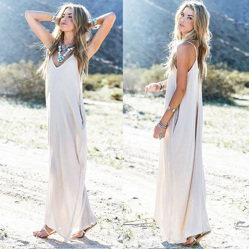 The Best Fashion Summer Dress Women Boho Long Maxi Dress Ladies Casual Beach Holiday Party Casual Loose Summer Sundress Online - Hplify
