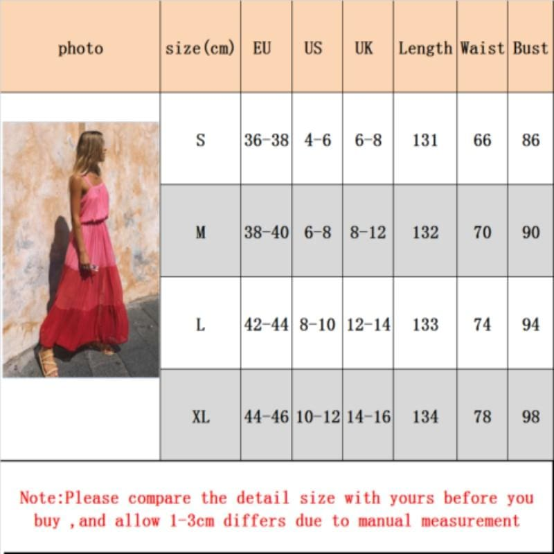 The Best Fashion Summer Dress  Women Holiday High Waist Sleeveless Dress Ladies Summer Boho Beach Long Sundress Online - Hplify