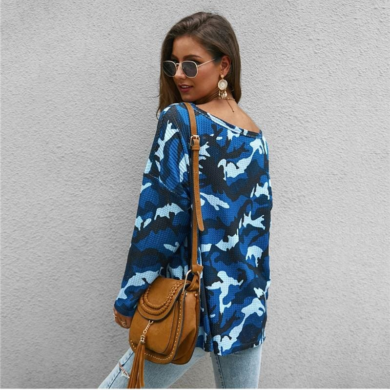 The Best Fashion Women Autumen Tops Shirt Long Sleeve Loose Elegant Ladies Camouflage Shirt Fashion Camo Outwear Streetwear Online - Hplify