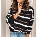Buy Cheap Fashion Women Autumn Winter Knitted Pullover Jumper Sweater Ladies Casual Crew Neck Long Sleeve Knitwear Top Online - Hplify
