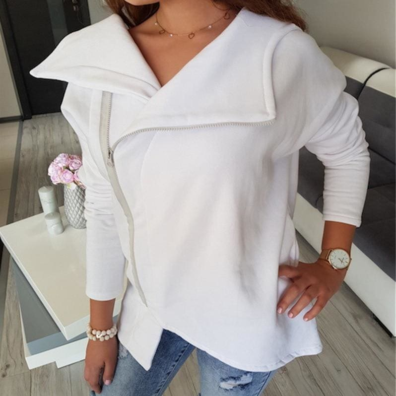 The Best Fashion Women Autumn Winter Top Long Sleeve Hooded Sweatshirt Ladies Casual White Hoodies Outwear Online - Hplify