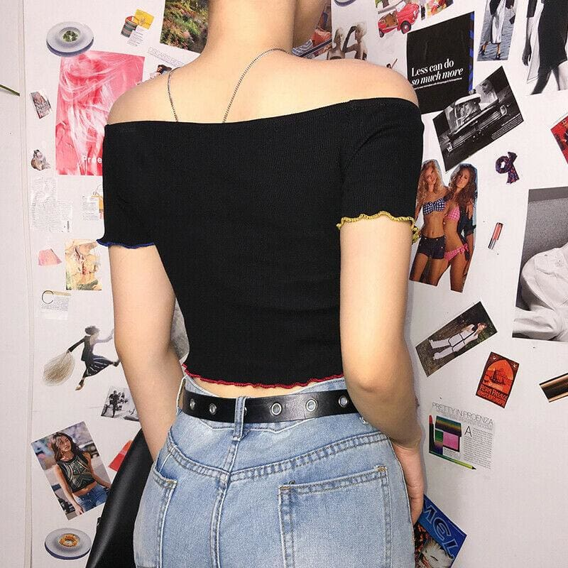 The Best Fashion Women Casual Off Shoulder Tank Top Vest Blouse Sexy Ladies Summer Holiday Sleeveless Crop Top Shirt Online - Source Silk