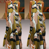 The Best Fashion Women Casual Sleeveless Summer Loose Long Maxi Dress Boho O-neck Unique Design Beach 2019 New Ladies Dress Online - Source Silk