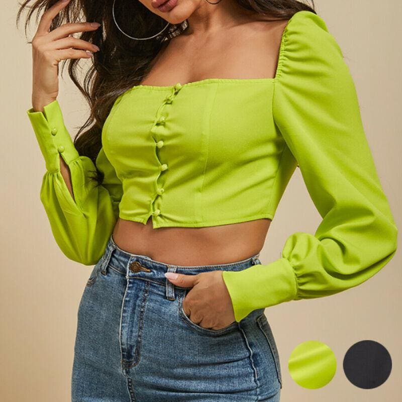 The Best Fashion Women Casual Tank Crop Tops Vest Blouse Ladies Casual Off Shoulder Long Sleeve Tee Shirt Tops Streetwear Online - Source Silk