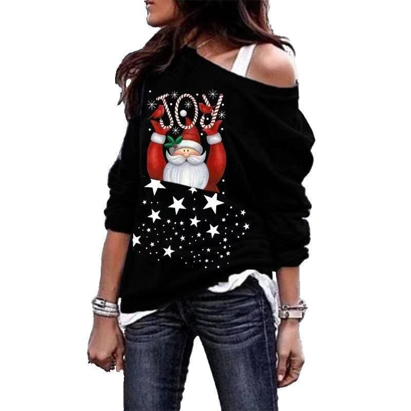 The Best Fashion Women Christmas Hoodie Sweatshirt Jumper Autumn Winter Lady Sweater Xmas Pullover Casual Tops Blouse Online - Hplify