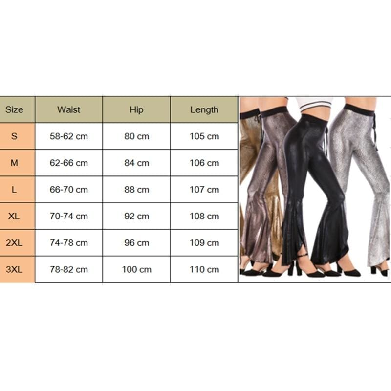 The Best Fashion Women Flared Leg Stretch Pants Bell Bottom asymmetric Long Stretchy High Waisted Trousers Leggings Palazzo Bottom Online - Hplify