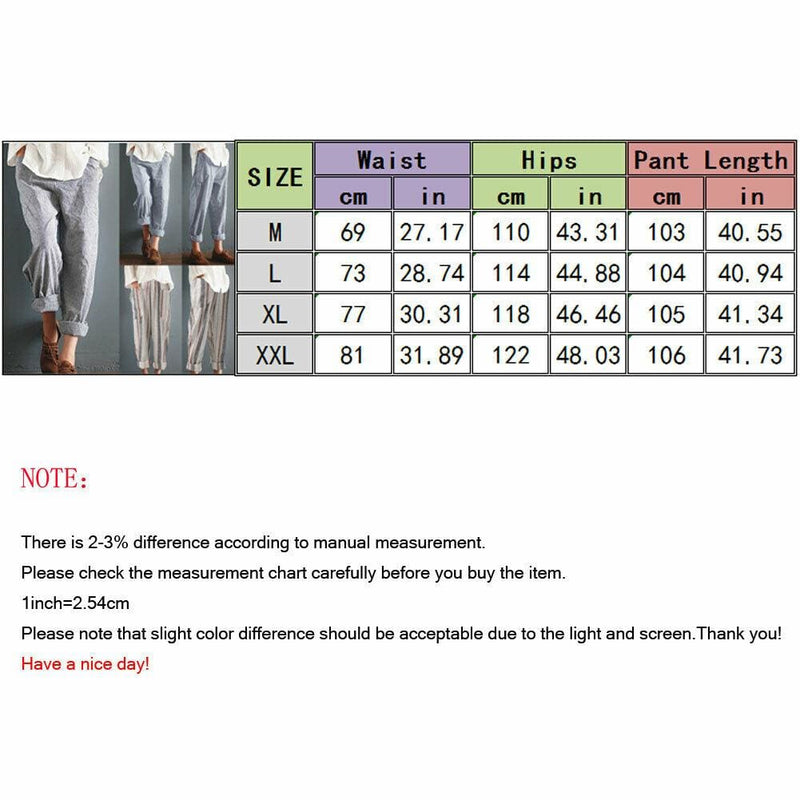 The Best Fashion Women High Waist Elastic Long Pants Baggy Casual Loose Harem Maxi Trousers Summer Outdoor Wide Leg Pants New Online - Hplify