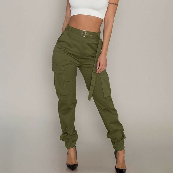 The Best Fashion Women's Camouflage Camo Cargo Army Pants High Waist Hip Hop Harem Joggers Sport Sweatpants Trousers Online - Source Silk