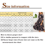 The Best Floral Print Sundress Lady Half Sleeve Fit and Flare Party Dress Sundress Plus Size Online - Source Silk