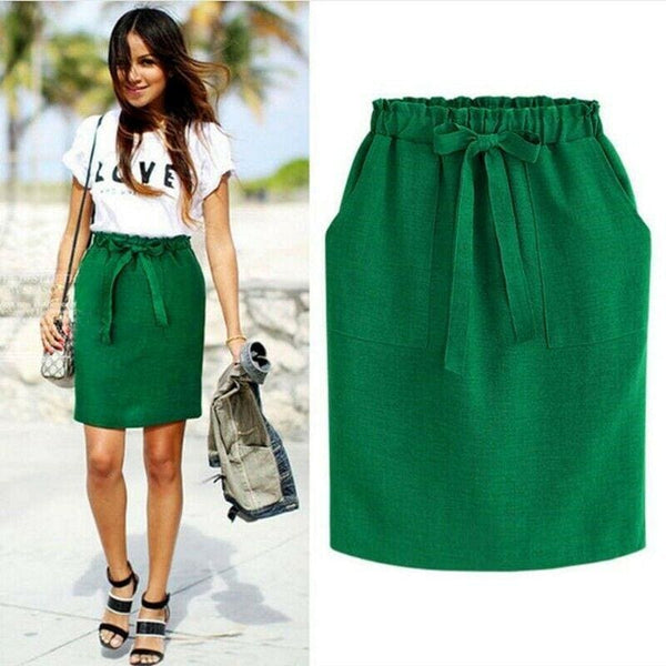 The Best High Waist Short Skirt Sexy Women Bandge Mini Skirt OL Ladies Summer Fashion Bodycon Pencil Skirt Sundress Online - Hplify