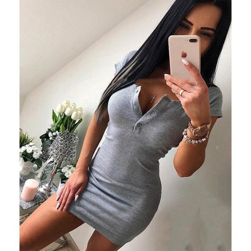 The Best Knit Sheath Mini Dresses Bodycon Dress Online - Source Silk