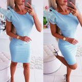 The Best Lace Short Sleeve Bandage Bodycon Mini Dress Gown Dress Sundress Online - Source Silk