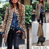 Buy Cheap Plus Size Leopard Sexy Warm Coat Online - SunLify