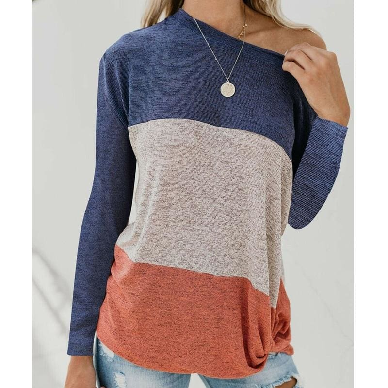 The Best Long Sleeve Autumn Pullover Blouse Loose Baggy Jumper Shirt Top Online - Hplify