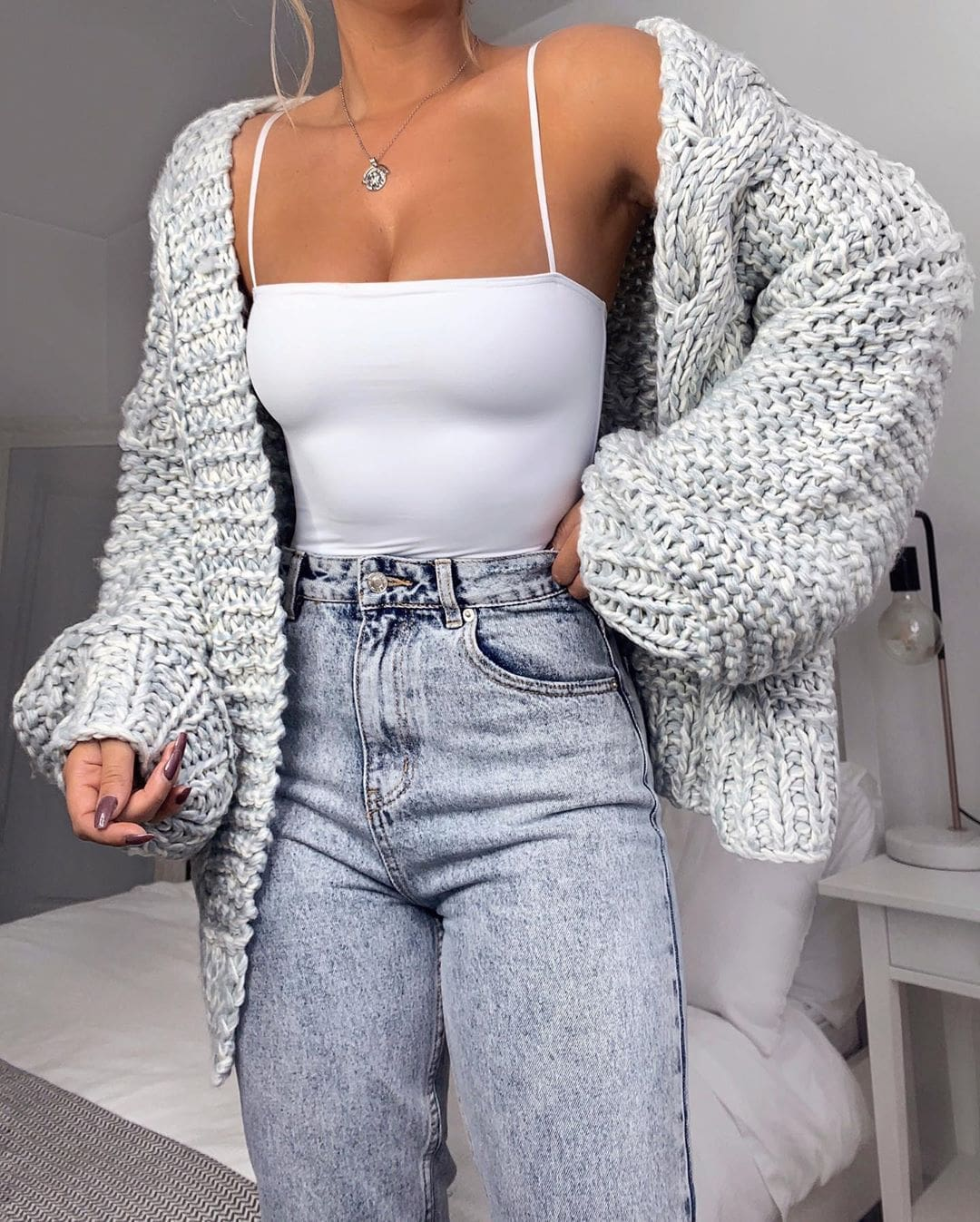 The Best Loose Knitted Casual Cardigan Tops Women Long Sleeve Sweaters Online - Source Silk
