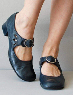 The Best Mary Janes Summer Low Heel Vintage Women Shoes Online - Hplify