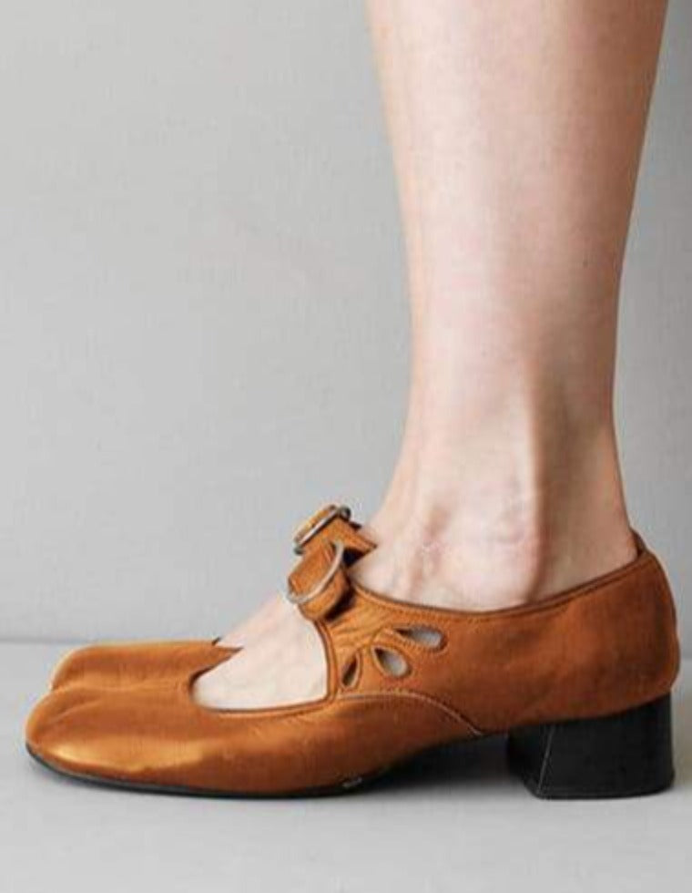 The Best Mary Janes Summer Low Heel Vintage Women Shoes Online - Source Silk