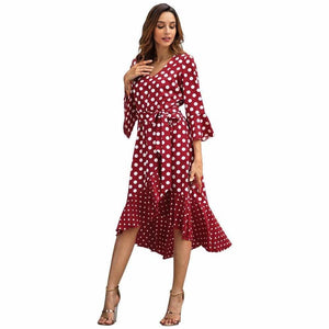 Buy Cheap New Wave Point Long Sleeve Large Size Dresses for Spring 2019 Online - Hplify
