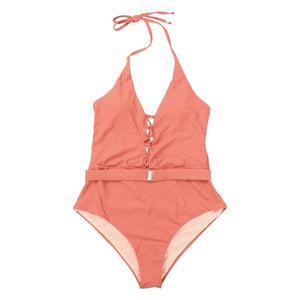 Buy Cheap One Piece Swimsuit Solid Beach Bandage Bathing Suits Women Swimming Suit Online - Hplify